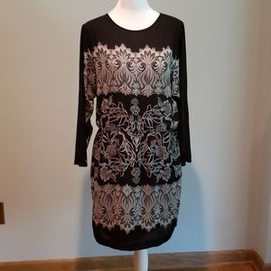 BCBGMAXAZARIA 3/4 Sleeve Casual Dress Sz Small